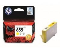 Картридж желтый струйный HP 655,   оригинальный