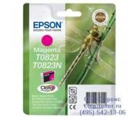 Картридж пурпурный Epson T0823 оригинальный